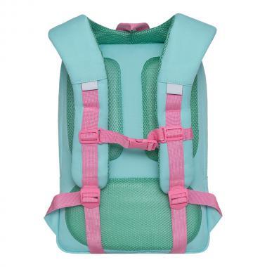 Рюкзак школьный GRIZZLY для девочки (мятный)