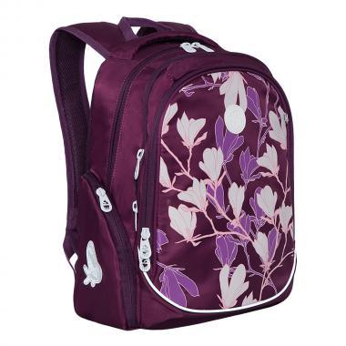 Рюкзак школьный GRIZZLY для девочки (фиолетовый)