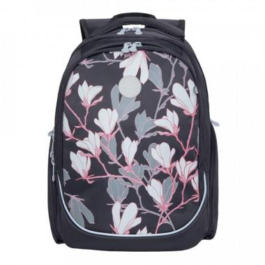 Рюкзак школьный GRIZZLY для девочки (серый)