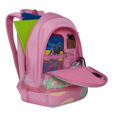 Рюкзак школьный GRIZZLY для девочки (розовый)
