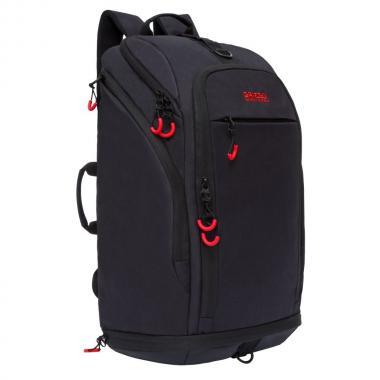 Мужской рюкзак-трансформер GRIZZLY — RQ-906-1 (черный/красный)