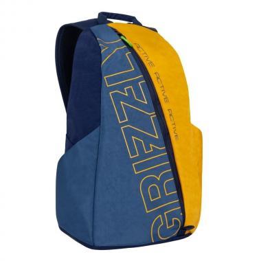 Спортивный рюкзак GRIZZLY — RQ-910-1 (синий/желтый)