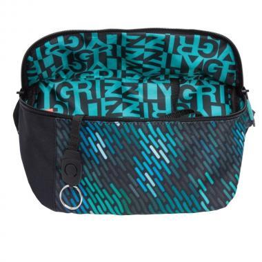 Поясная сумка GRIZZLY — MM-925-3 (бирюзовый дождь)
