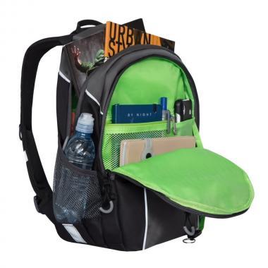 Школьный рюкзак для мальчика GRIZZLY (серый/черный)