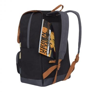 Молодёжный рюкзак GRIZZLY (черный/серый)