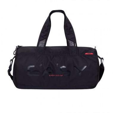 Мужская спортивная сумка GRIZZLY (черный - красный)