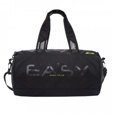 Мужская спортивная сумка GRIZZLY (черный - салатовый)