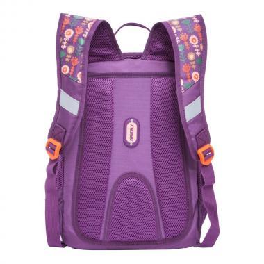 Школьный рюкзак для девочки Grizzly (фиолетовый)