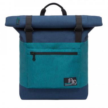 Молодёжный рюкзак Grizzly (синий-бирюзовый)