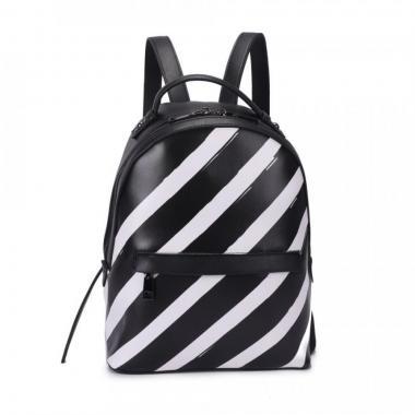 Женский рюкзак из экокожи Ors Oro (черный с белым)