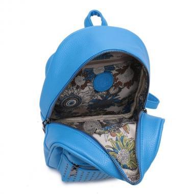 Женский рюкзак из экокожи Ors Oro (яр.голубой)