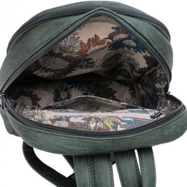 Женский рюкзак из экокожи Ors Oro (зеленый джинс)