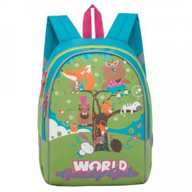 Детский рюкзак Grizzly  (бирюзовый - салатовый)