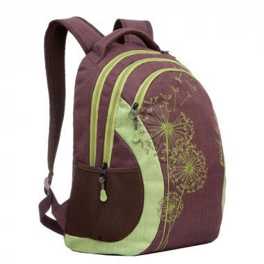 Женский рюкзак Grizzly (коричневый-салатовый)