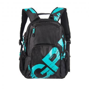 Молодёжный рюкзак Grizzly (черный-бирюза)