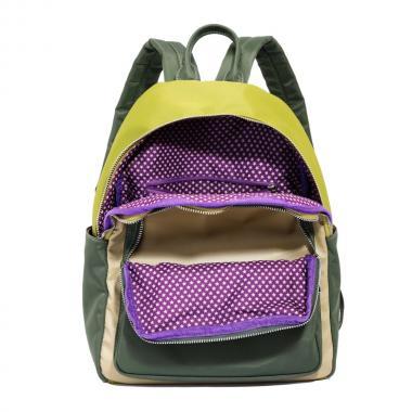 Женский рюкзак из экокожи Ors Oro (хаки/оливковый/бежевый)