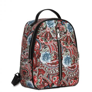 Женский рюкзак из экокожи Ors Oro (пейсли с розами)