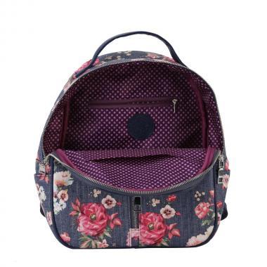 Женский рюкзак из экокожи Ors Oro (пионы и джинс)