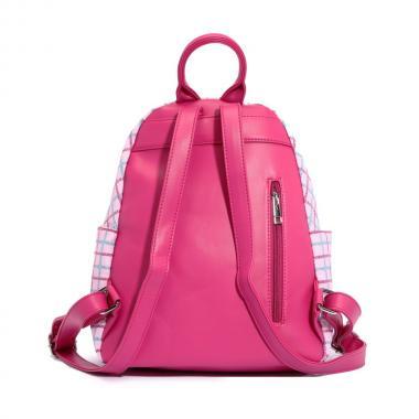 Женский рюкзак из экокожи Ors Oro (клетка розовая)