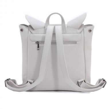 Женский рюкзак из экокожи Ors Oro (светло-серый)
