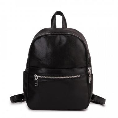 Женский рюкзак из экокожи Ors Oro (черный глиттер)