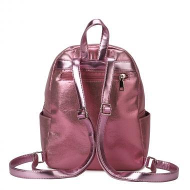 Женский рюкзак из экокожи Ors Oro (розовый глиттер)