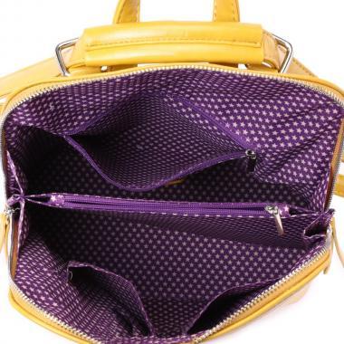Женский рюкзак из экокожи Ors Oro (горчица)