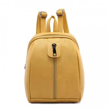 Женский рюкзак из экокожи Ors Oro (желтый манго)