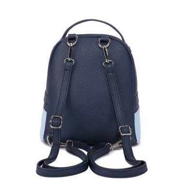 Женский рюкзак из экокожи Ors Oro (синий/голубой)
