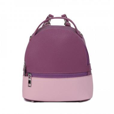 Женский рюкзак из экокожи Ors Oro (сиреневый - розовый)