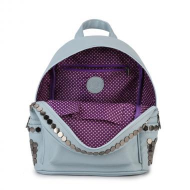 Женский рюкзак из экокожи Ors Oro (серо-голубой)