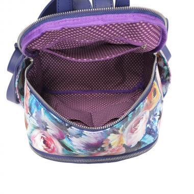 Женский рюкзак из экокожи Ors Oro (фиолетово-бирюзовые цветы)