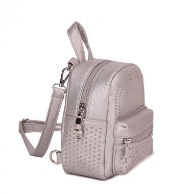 Женский рюкзак из экокожи Ors Oro (серебро)
