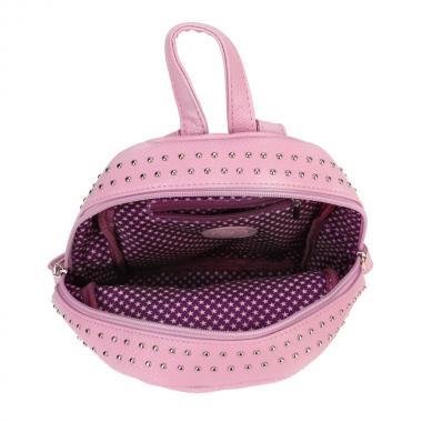 Женский рюкзак из экокожи Ors Oro (розовый - сиреневый)