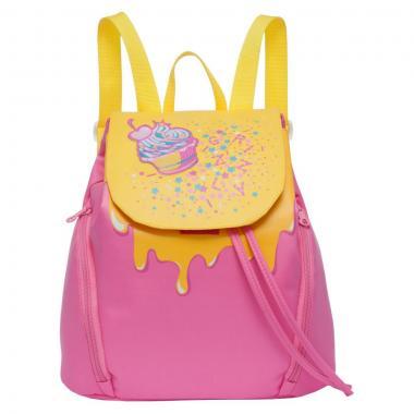 Женский рюкзак Grizzly (розовый - желтый)