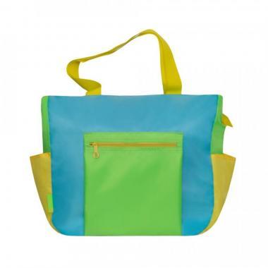 Женская сумка Grizzly (голубой салатовый)