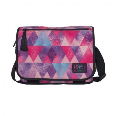 Женская молодёжная сумка Grizzly (ромбы/фиолетовый)