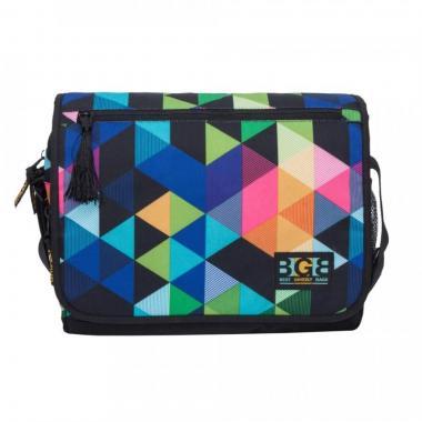 Женская молодёжная сумка Grizzly (геометрия разноцветная)