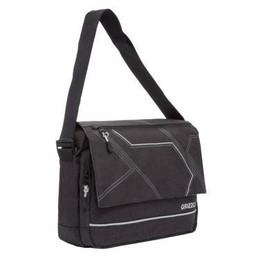 Мужская молодёжная сумка Grizzly (черный/серый)