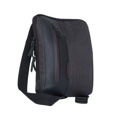 Мужская сумка через плечо GRIZZLY (черный/красный)