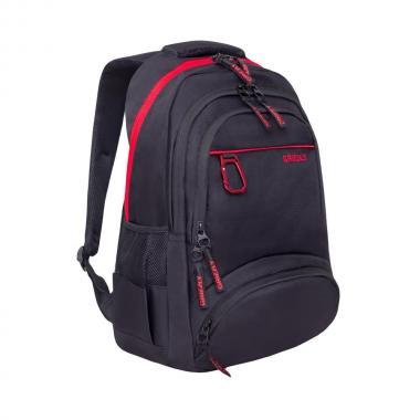 Мужской рюкзак Grizzly (черный/красный)