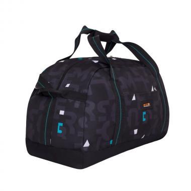 Мужская спортивная сумка Grizzly (бирюзовые кубики)