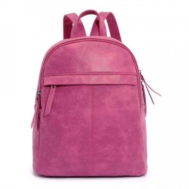 Женский рюкзак из экокожи Ors Oro (т.розовый)