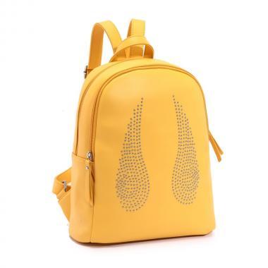Женский рюкзак из экокожи Ors Oro — DS-927 (желтый)