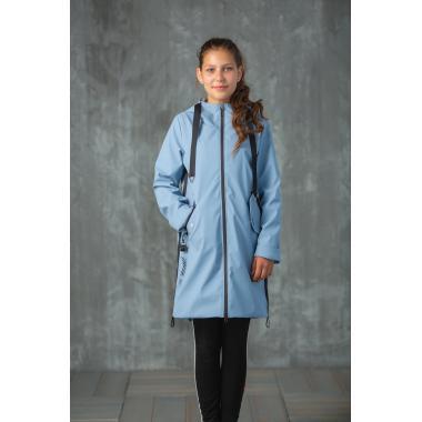 Плащ АВРОРА для девочки КЕРРИ (серо-голубой), 8 - 13 лет