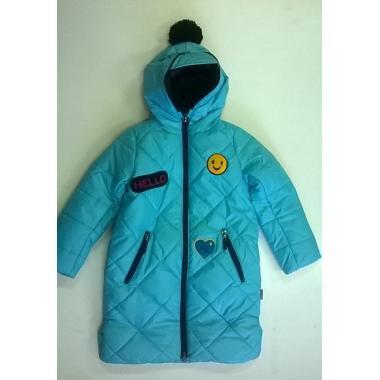 Зимнее пальто BOOM by ORBY для девочки (бирюза), 3-13 лет