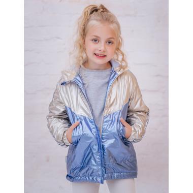 Весенняя куртка БАТИК для девочки САБРИНА (золото/голубой), 6-13 лет
