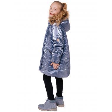 Зимнее пальто БАТИК для девочки НАТАЛИ (серо-голубой), 8-13 лет