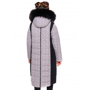 Зимнее пальто БАТИК для девочки ПАУЛА (черно-серый), 9-14 лет