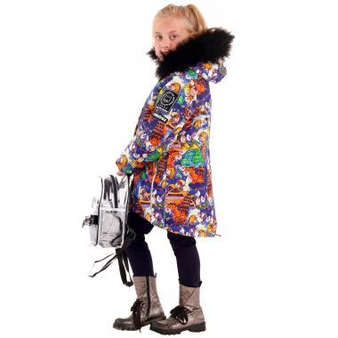 Зимняя парка БАТИК для девочки ШЕЙЛА (мультиколор), 7-11 лет